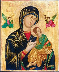 Icon of Our Lady of Perpetual Help.