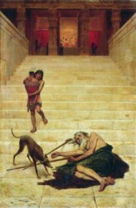 Lazarus outside the Rich Man's Palace