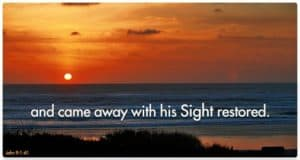 Quote: ...sight restored