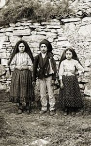 Photograph of Lucia, Francisco and Jacinta
