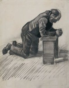 Sketch of Man praying