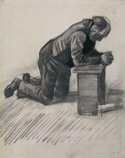 Sketch of Man praying