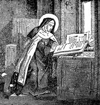 Sketch of St Mary Magdalene de Pazzi