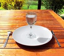Glass of Water on saucer