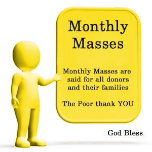 Notice: Monthly Masses for Donors