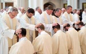 An ordination of a group of Priests