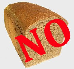 """Loaf of bread with label - """"No"""""""
