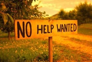 Sign: No Help Wanted