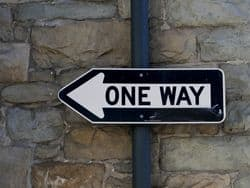 Sign: One Way