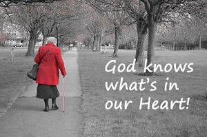 "Statement: ""God knows what's in our heart"""