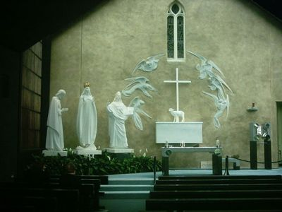 Image of the Blessed Virgin Mary's Apparition at Knock, Ireland