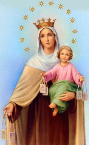 Image of Our Lady of Mount Carmel.