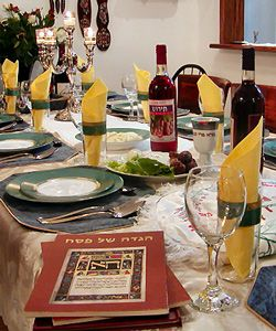 Passover Meal Table Example