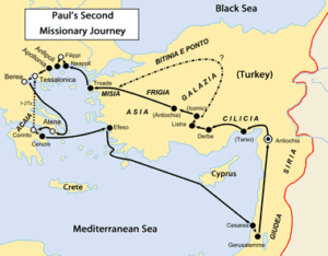 Map: Paul's Second Journey