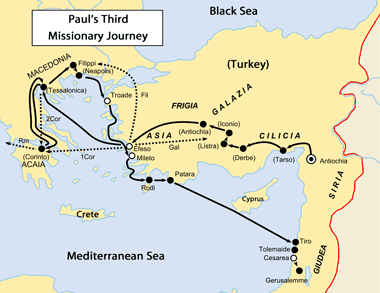 Map: Paul's Third Missionary Journey