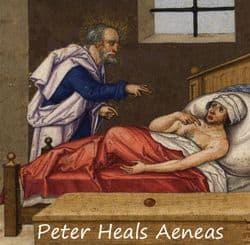 Peter heals Aeneas