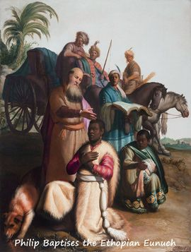 Philip Baptises The Eunuch (Rembrant)