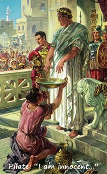 Sketch of Pilate washing his hands