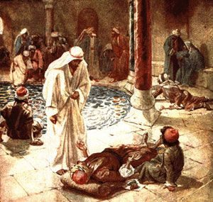 Sketch of Jesus at the Pools of bethesda