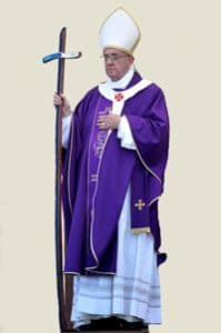 Pope Francis with Crozier
