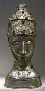 Mould depicting the head of Pope St Sylvester I
