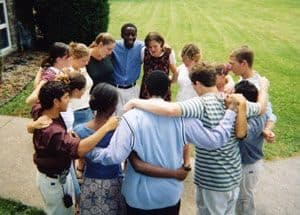 Group of Young People in circle