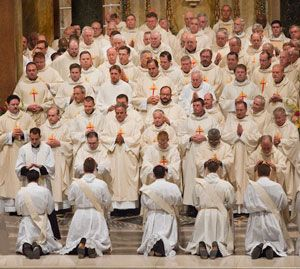 Gathering of Priests at an Ordination Ceremony