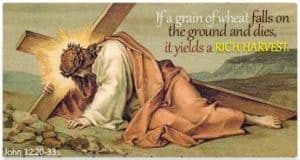 Jesus falls under Cross