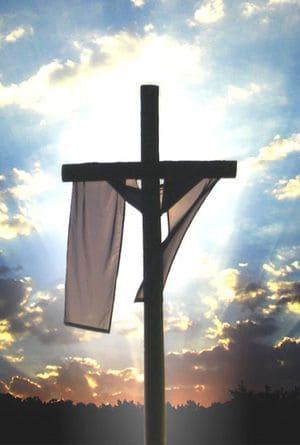 Cross with cloth drape