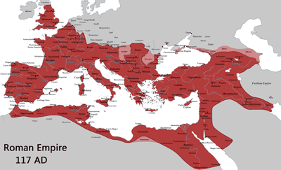 Map: Roman Empire in 117AD