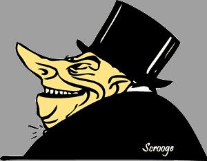 Sketch of Scrooge