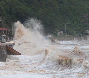 Storm waves: Do Son, Vietnam