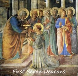 "Painting ""Seven Deacons by Angelico Niccolina"