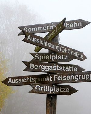 Signpost with multiple directions