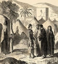 Sketch showing Christian Refugees during 1860 strife