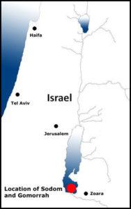 Map: Sodom and Gomorrah