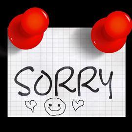 """Notice: """"Sorry"""""""