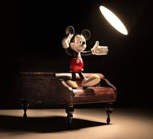 Mickey Mouse in the spotlight
