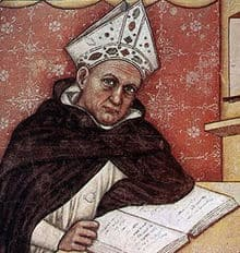 Image of St Albert the Great writing