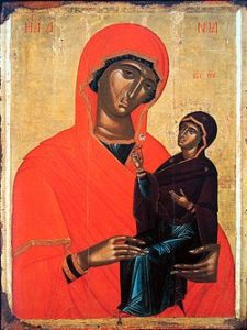 Image of St Anne with the Child Mary