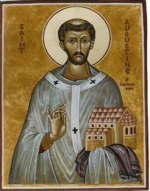 Icon of St Augustine of Canterbury