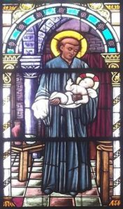 Stain Glass Window image of St Benedict the Moor