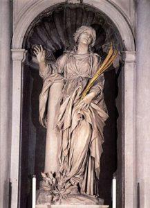 Statue of St Bibiana