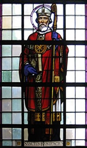 Stain Glass Window Image of St Boniface