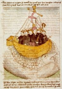 Picture of St Brendan & Companions in a boat
