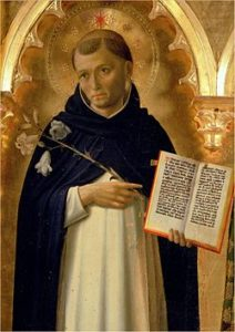 Image of St Dominic holding a Bible