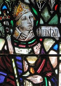 Stain Glass Image of St Dunstan
