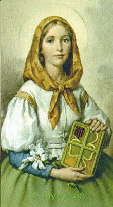 Image of St Dymphna holding a book