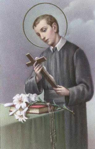 Image of St Gerard Majella holding a Cross