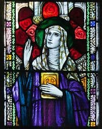 Stain Glass Window Image of St Ita